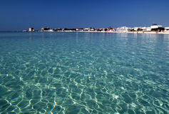 Turquoise sea Stock Photography
