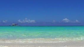Turquoise sea, Puka beach, Boracay. Philippines stock video