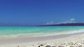 Turquoise sea, Puka beach, Boracay. Philippines stock video footage