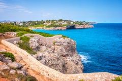Turquoise sea at the rocky coast of Mallorca. Turquoise sea at the rocky coast of the Spanish island Mallorca, Europe Royalty Free Stock Photo