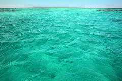 Turquoise sea surface background Stock Photography