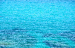 Turquoise sea surface with small waves Royalty Free Stock Photography