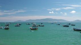Turquoise Sea Vietnamese coastline high definition movie stock footage