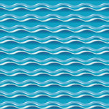 Turquoise sea water abstract geometry. Seamless pattern. water wave background. vector illustration. element for design Stock Photos