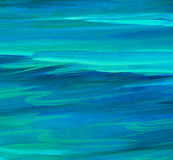 Turquoise sea water  wave , illustration Stock Photos