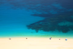 Turquoise sea, white sand Royalty Free Stock Images