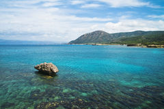 Turquoise seaand mountains in Cyprus Stock Image