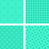 Turquoise seamless background set. Turquoise seamless curved pattern background set Stock Photography