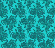 Turquoise seamless floral Pattern for design Royalty Free Stock Photography