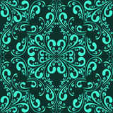 Turquoise seamless floral Pattern Royalty Free Stock Photography