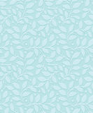 Turquoise seamless leaves wallpaper Stock Images