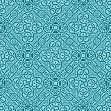 Turquoise seamless ornament Royalty Free Stock Images