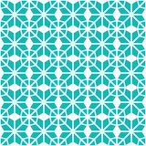 Turquoise seamless pattern. Abstract background. Geometric repeated texture. Template graphic backdrop. Arabic ornamental design. Vector illustration in stock illustration