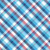 Turquoise seamless pattern check plaid fabric texture madras. Vector illustration Stock Image