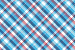 Turquoise seamless pattern check plaid fabric texture madras Stock Photos
