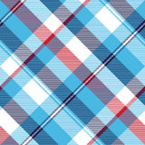 Turquoise seamless pattern check plaid fabric texture madras Stock Images
