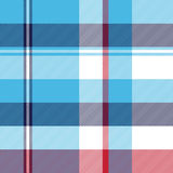Turquoise seamless pattern check plaid fabric texture madras Stock Photography