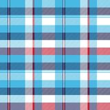 Turquoise seamless pattern check plaid fabric texture madras. Vector illustration Stock Photo