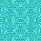 Turquoise seamless psychedelic geometrcial spiral stripe pattern background - vector design. Turquoise seamless psychedelic geometrcial spiral stripe pattern stock illustration
