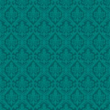 Turquoise seamless royal background Royalty Free Stock Photo
