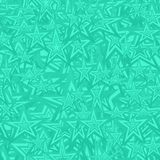 Turquoise seamless star pattern background Stock Images