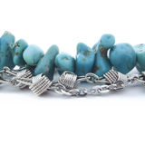 Turquoise and silver Stock Photo