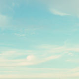 Turquoise Sky. Turquoise blue sky with soft clouds Royalty Free Stock Images