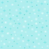 Turquoise Snowflakes. Collection of white and turquoise snowflake shapes on a turquoise background Royalty Free Illustration