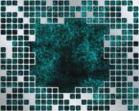 Turquoise sous le réseau en métal, place pour le grand tex Photo libre de droits