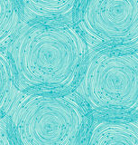 Turquoise spiral pattern Stock Images