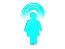 Turquoise Spiritual Girl with visible color Aura Stock Image