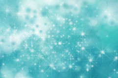 Turquoise Star Background Stock Photography