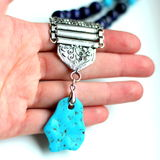 Turquoise stone beads Stock Image