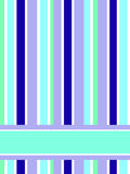 Turquoise stripes. Card made of blue and green stripes with place for the text Royalty Free Stock Photos