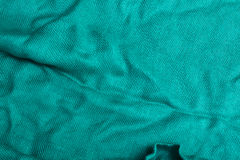 Turquoise stripes-fabric texture Stock Photos