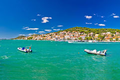 Turquoise summer destination - Tisno village. Island of Murter Stock Photo