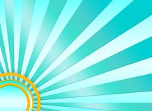 Turquoise sunburst background Royalty Free Stock Image