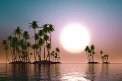 Turquoise sunset Stock Image