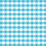 Turquoise Tablecloth Seamless Pattern stock illustration