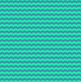 Turquoise and teal waves seamless pattern Stock Images