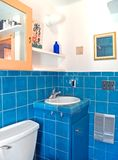 Turquoise tile work in a bathroom Royalty Free Stock Images