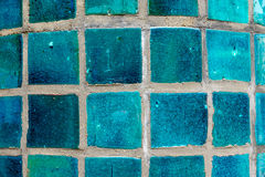 Turquoise tiles. A background from small turquoise tiles, seen in a spa Stock Photography
