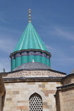 Turquoise tiles of  Mevlana shrine Stock Photo