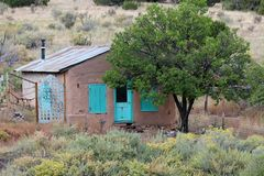 The Turquoise Trail, New Mexico. The Scenic and Historic Area of the Turquoise Trail encompasses 15,000 square miles in the heart of central New Mexico, linking royalty free stock photo