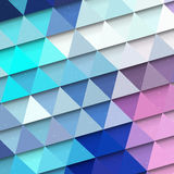 Turquoise triangle background Stock Images
