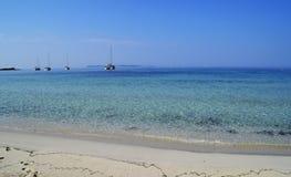 Turquoise tropical water of Majorca, Spain Mediterranean Sea stock image