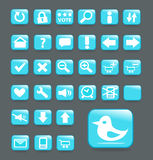 Turquoise vector website buttons Royalty Free Stock Images