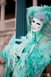 Turquoise Venetian costume Royalty Free Stock Image