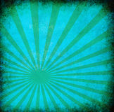 Turquoise vintage grunge background with sun rays vector illustration