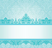 Turquoise vintage invitation design Royalty Free Stock Image